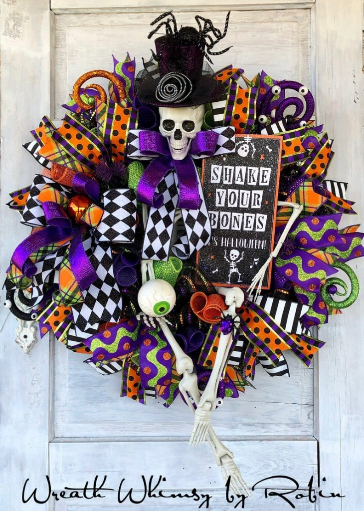 Skeleton wreath for Halloween